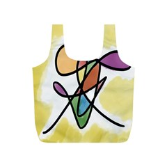 Art Abstract Exhibition Colours Full Print Recycle Bags (S)