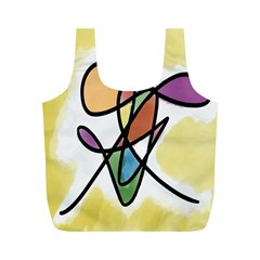 Art Abstract Exhibition Colours Full Print Recycle Bags (M)