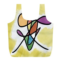 Art Abstract Exhibition Colours Full Print Recycle Bags (L)
