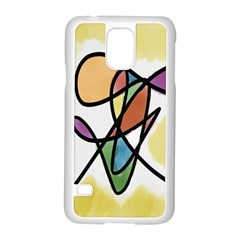 Art Abstract Exhibition Colours Samsung Galaxy S5 Case (White)