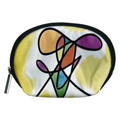 Art Abstract Exhibition Colours Accessory Pouches (Medium)