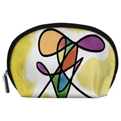 Art Abstract Exhibition Colours Accessory Pouches (large)