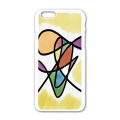 Art Abstract Exhibition Colours Apple iPhone 6/6S White Enamel Case