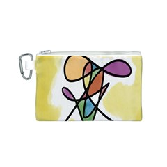 Art Abstract Exhibition Colours Canvas Cosmetic Bag (S)