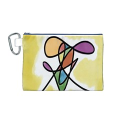 Art Abstract Exhibition Colours Canvas Cosmetic Bag (M)