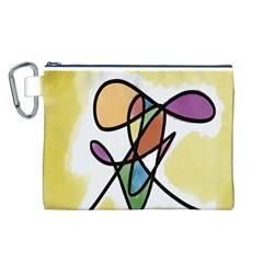 Art Abstract Exhibition Colours Canvas Cosmetic Bag (L)