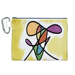Art Abstract Exhibition Colours Canvas Cosmetic Bag (xl)