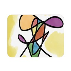 Art Abstract Exhibition Colours Double Sided Flano Blanket (Mini)