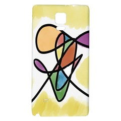 Art Abstract Exhibition Colours Galaxy Note 4 Back Case