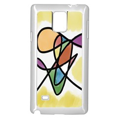 Art Abstract Exhibition Colours Samsung Galaxy Note 4 Case (White)