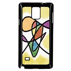 Art Abstract Exhibition Colours Samsung Galaxy Note 4 Case (Black)