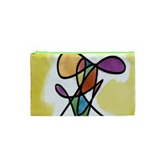 Art Abstract Exhibition Colours Cosmetic Bag (XS)