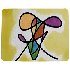 Art Abstract Exhibition Colours Jigsaw Puzzle Photo Stand (Rectangular)