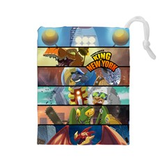 King of New York Large Drawstring Pouch (Large)