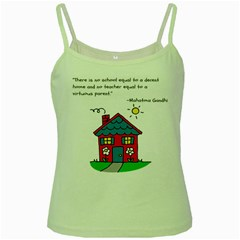 No School Greater... Green Spaghetti Tank