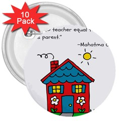 No School Greater... 3  Buttons (10 pack)