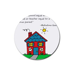 No School Greater... Rubber Coaster (Round)