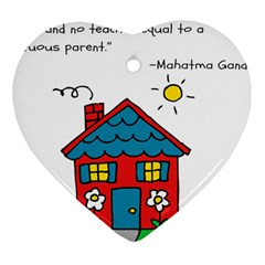 No School Greater... Heart Ornament (Two Sides)