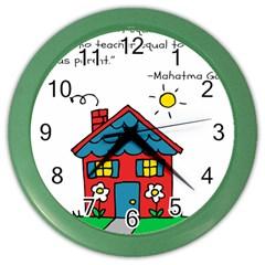 No School Greater... Color Wall Clocks