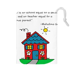 No School Greater... Drawstring Pouches (Large)