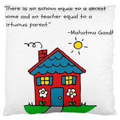 No School Greater... Large Flano Cushion Case (One Side)