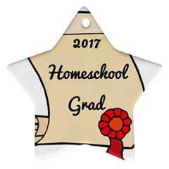 2017 Homeschool Grad! Ornament (Star)