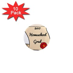 2017 Homeschool Grad! 1  Mini Magnet (10 pack)
