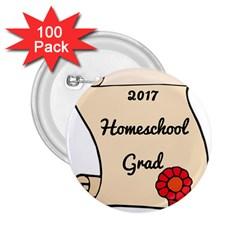 2017 Homeschool Grad! 2.25  Buttons (100 pack)