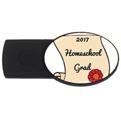 2017 Homeschool Grad! USB Flash Drive Oval (4 GB)