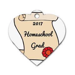 2017 Homeschool Grad! Dog Tag Heart (Two Sides)