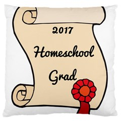 2017 Homeschool Grad! Large Cushion Case (Two Sides)