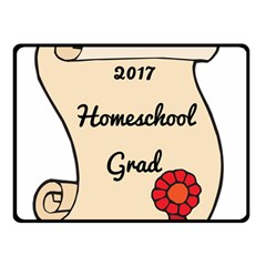 2017 Homeschool Grad! Double Sided Fleece Blanket (Small)