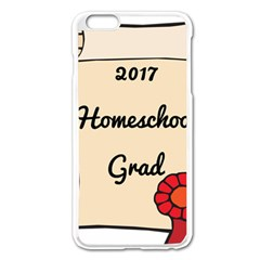 2017 Homeschool Grad! Apple iPhone 6 Plus/6S Plus Enamel White Case