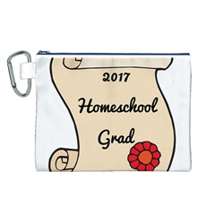 2017 Homeschool Grad! Canvas Cosmetic Bag (L)