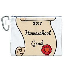 2017 Homeschool Grad! Canvas Cosmetic Bag (XL)