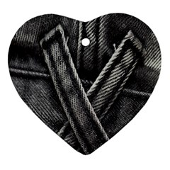 Backdrop Belt Black Casual Closeup Ornament (Heart)