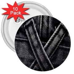 Backdrop Belt Black Casual Closeup 3  Buttons (10 pack)