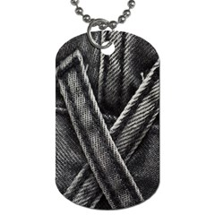 Backdrop Belt Black Casual Closeup Dog Tag (Two Sides)