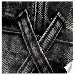 Backdrop Belt Black Casual Closeup Canvas 16  x 16