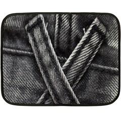 Backdrop Belt Black Casual Closeup Double Sided Fleece Blanket (Mini)