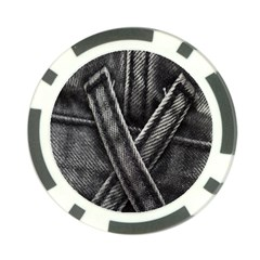 Backdrop Belt Black Casual Closeup Poker Chip Card Guard (10 pack)