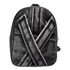 Backdrop Belt Black Casual Closeup School Bags(Large)