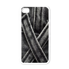 Backdrop Belt Black Casual Closeup Apple iPhone 4 Case (White)
