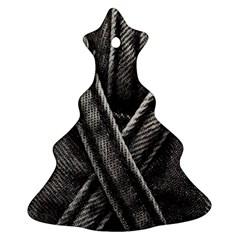 Backdrop Belt Black Casual Closeup Ornament (Christmas Tree)