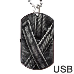 Backdrop Belt Black Casual Closeup Dog Tag USB Flash (One Side)