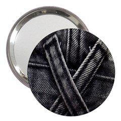 Backdrop Belt Black Casual Closeup 3  Handbag Mirrors