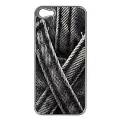 Backdrop Belt Black Casual Closeup Apple iPhone 5 Case (Silver)