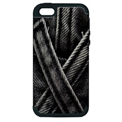Backdrop Belt Black Casual Closeup Apple iPhone 5 Hardshell Case (PC+Silicone)