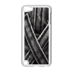 Backdrop Belt Black Casual Closeup Apple iPod Touch 5 Case (White)