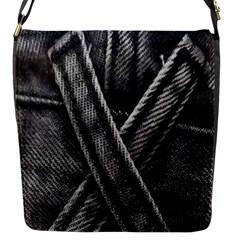 Backdrop Belt Black Casual Closeup Flap Messenger Bag (S)